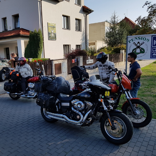 We kindly welcome all motorbikers here at our hotel in Prague.